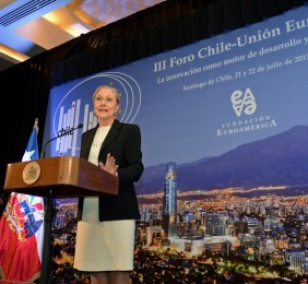 La Presidenta de la Fundación Euroamérica Benita Ferrero-Waldner