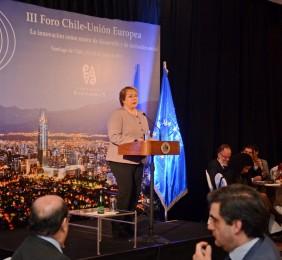 Michelle Bachelet en el almuerzo de clausura